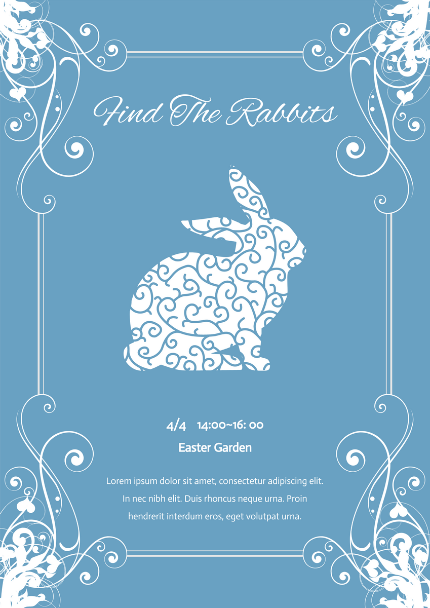 Poster template: Easter Event Poster (Created by InfoART's Poster marker)