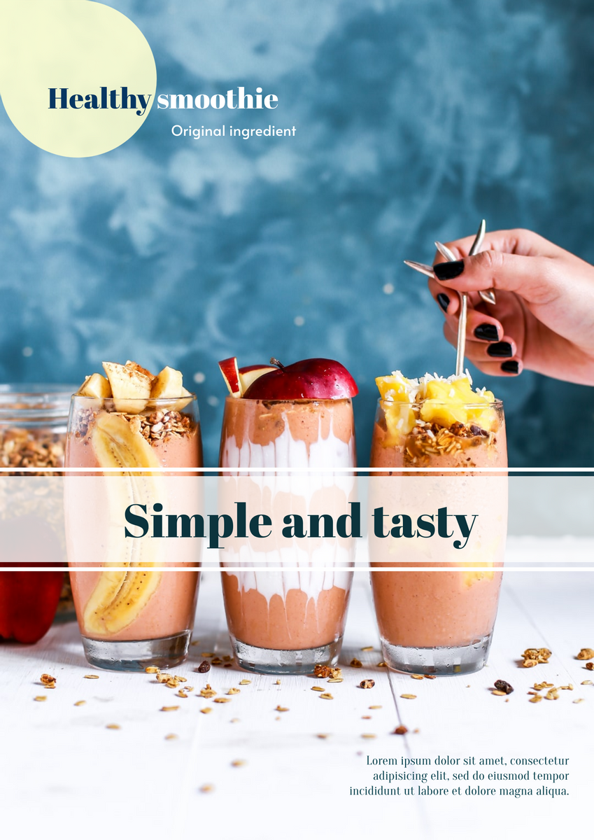 Poster template: Healthy Smoothie Poster (Created by InfoART's Poster maker)