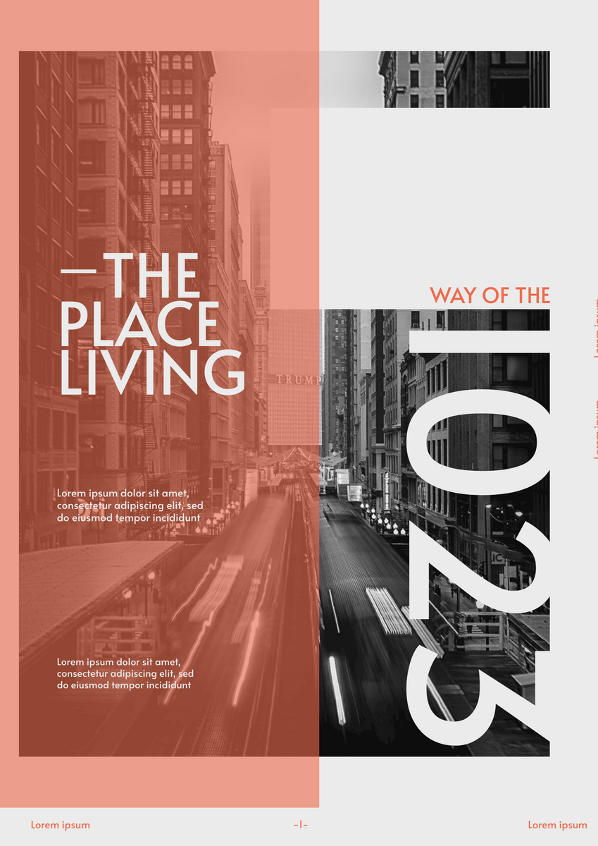 Poster template: Place We Are Living Poster (Created by InfoART's Poster maker)