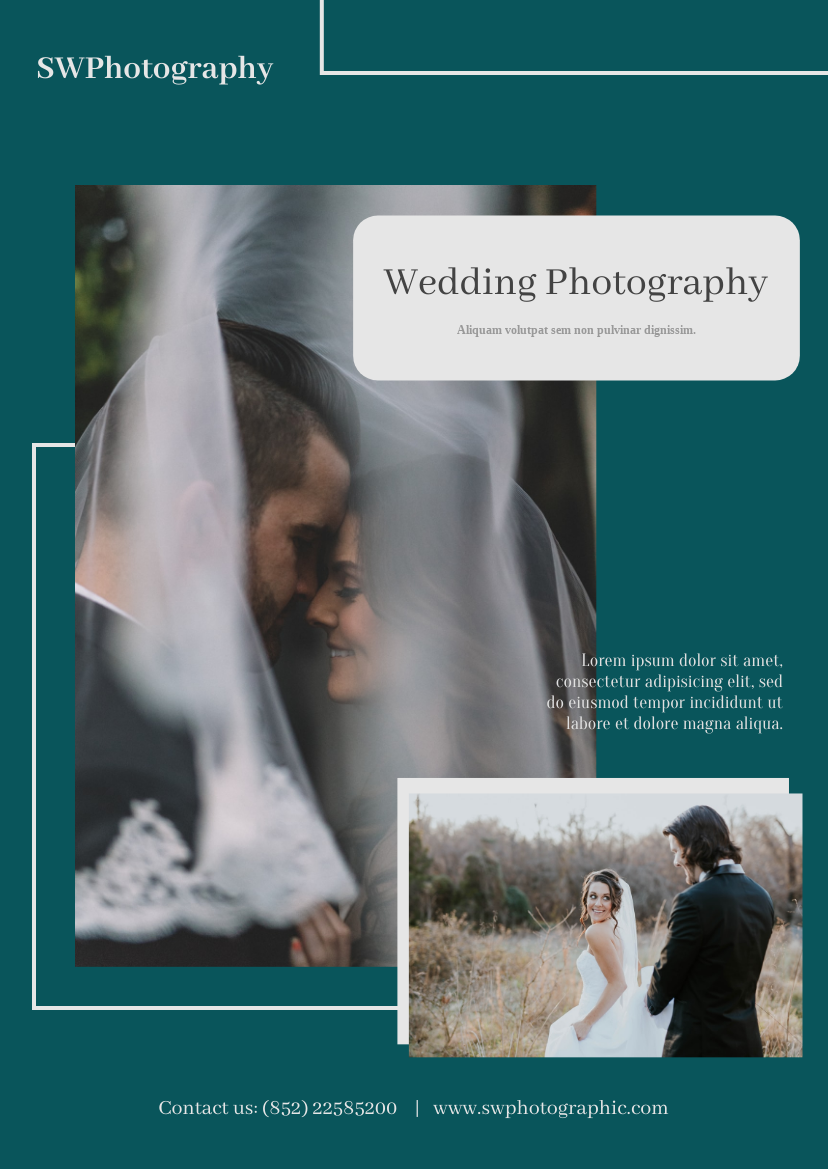Flyer template: Wedding Photography Flyer (Created by InfoART's Flyer maker)
