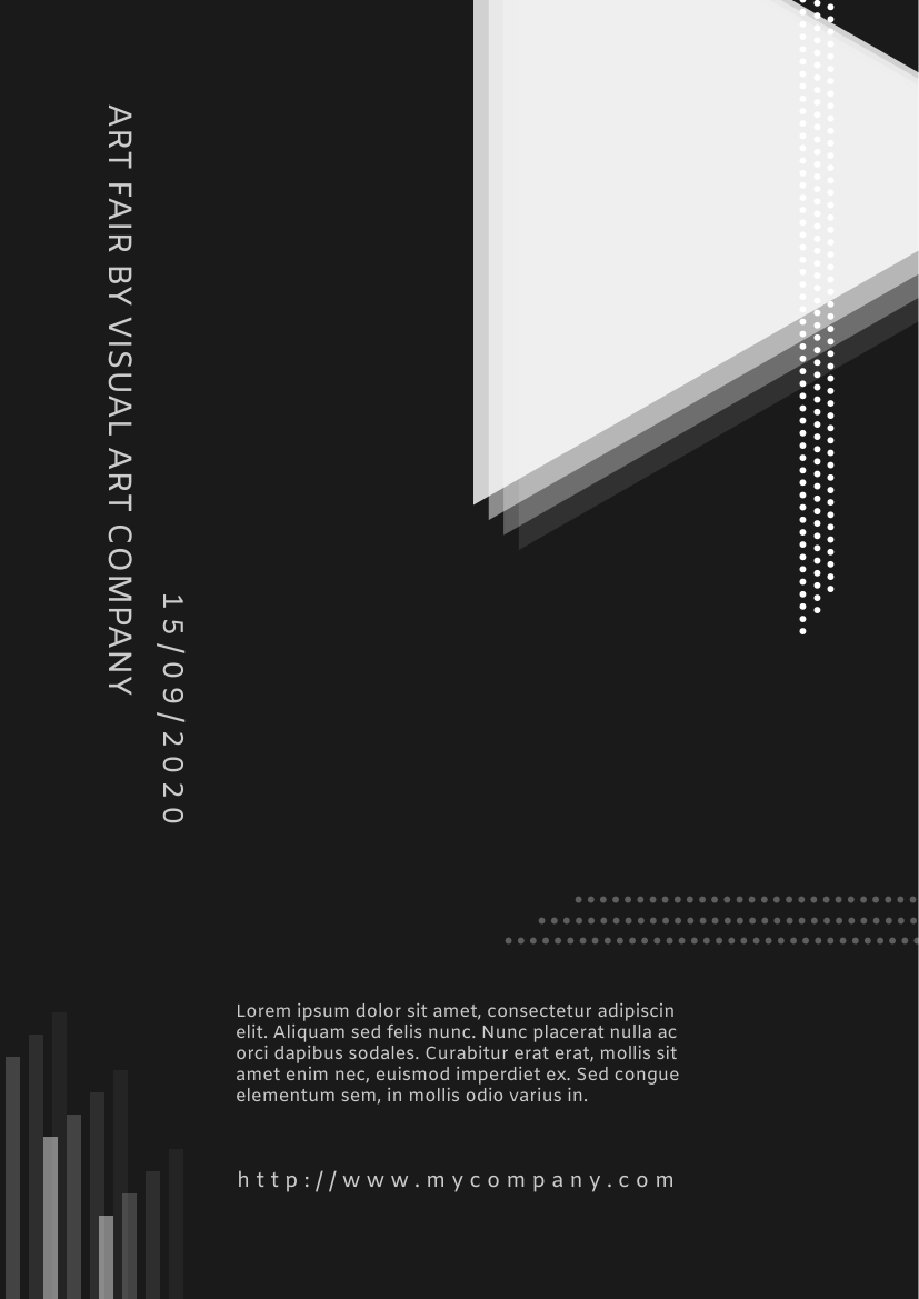 Flyer template: Art Fair Flyer With Details (Created by InfoART's Flyer maker)