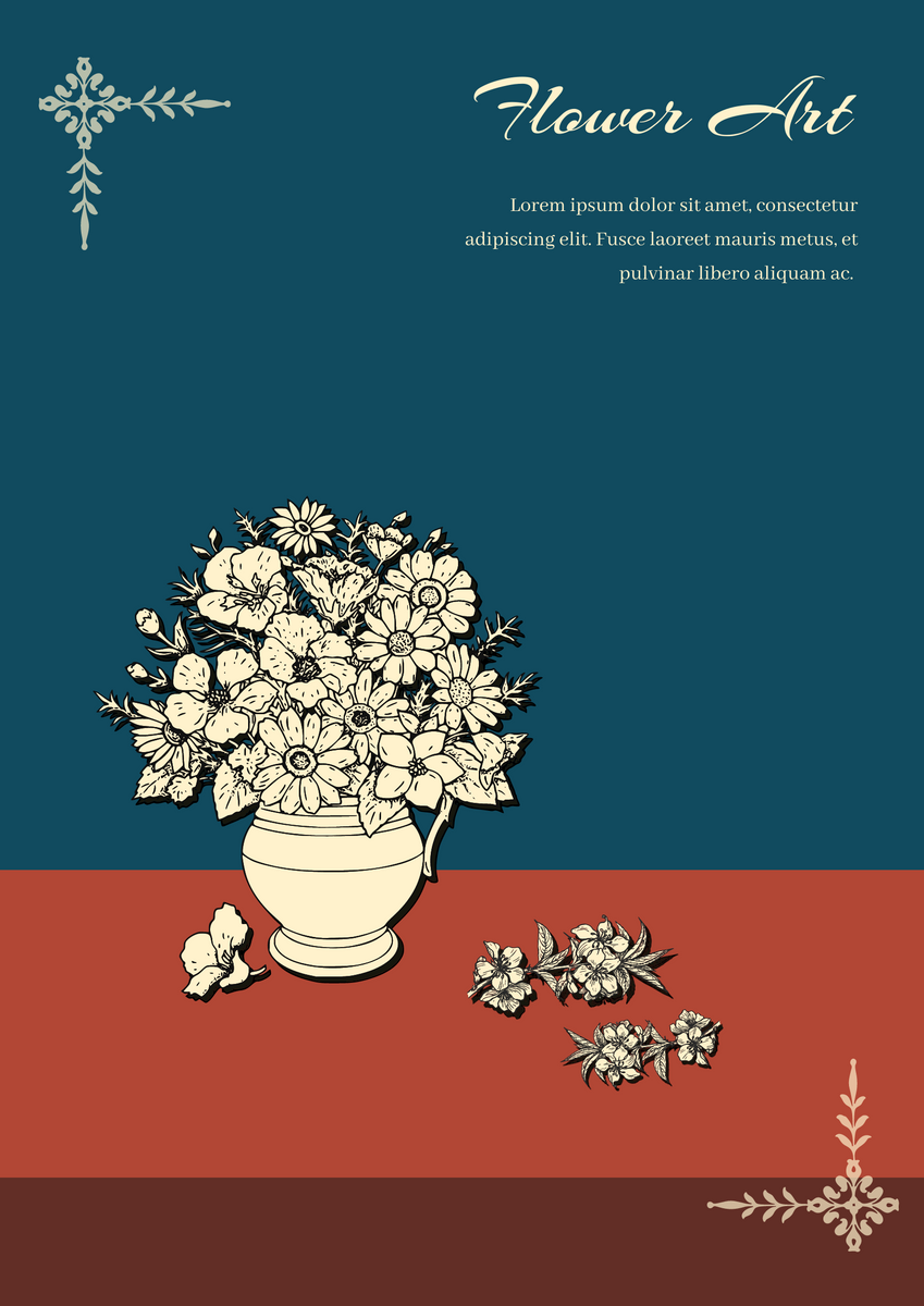 Poster template: Flower art poster (Created by InfoART's Poster maker)