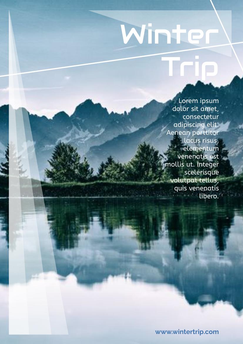 Flyer template: Winter Trip Flyer (Created by InfoART's Flyer maker)