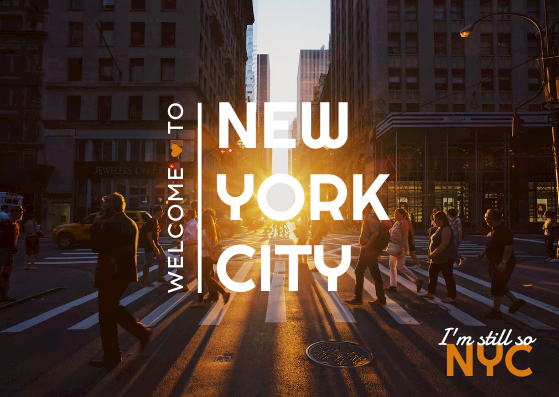 Postcard template: NYC New York City Postcard (Created by InfoART's Postcard maker)