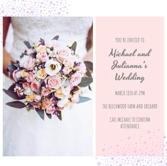 Invitation template: Michael & Julianna's Wedding Invitation (Created by InfoART's Invitation marker)