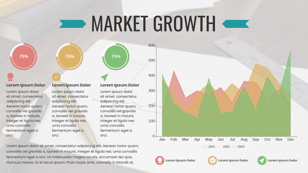 Area Chart template: Market Growth (Created by Chart's Area Chart maker)
