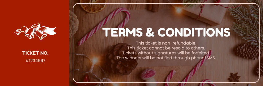 Ticket template: Christmas Holidays Raffle Ticket (Created by InfoART's Ticket maker)