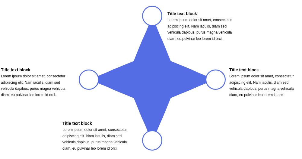 4 Segment Star Diagram Template (Star Diagram Example)