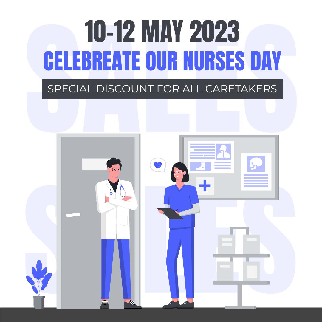 Instagram 帖子 template: Caretakers Discount On Nurses Day Instagram Post (Created by InfoART's Instagram 帖子 maker)