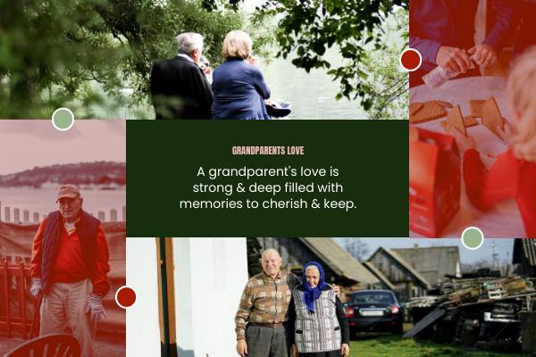 Greeting Card template: Memory Of Grandparents Day Greeting Card (Created by InfoART's Greeting Card maker)