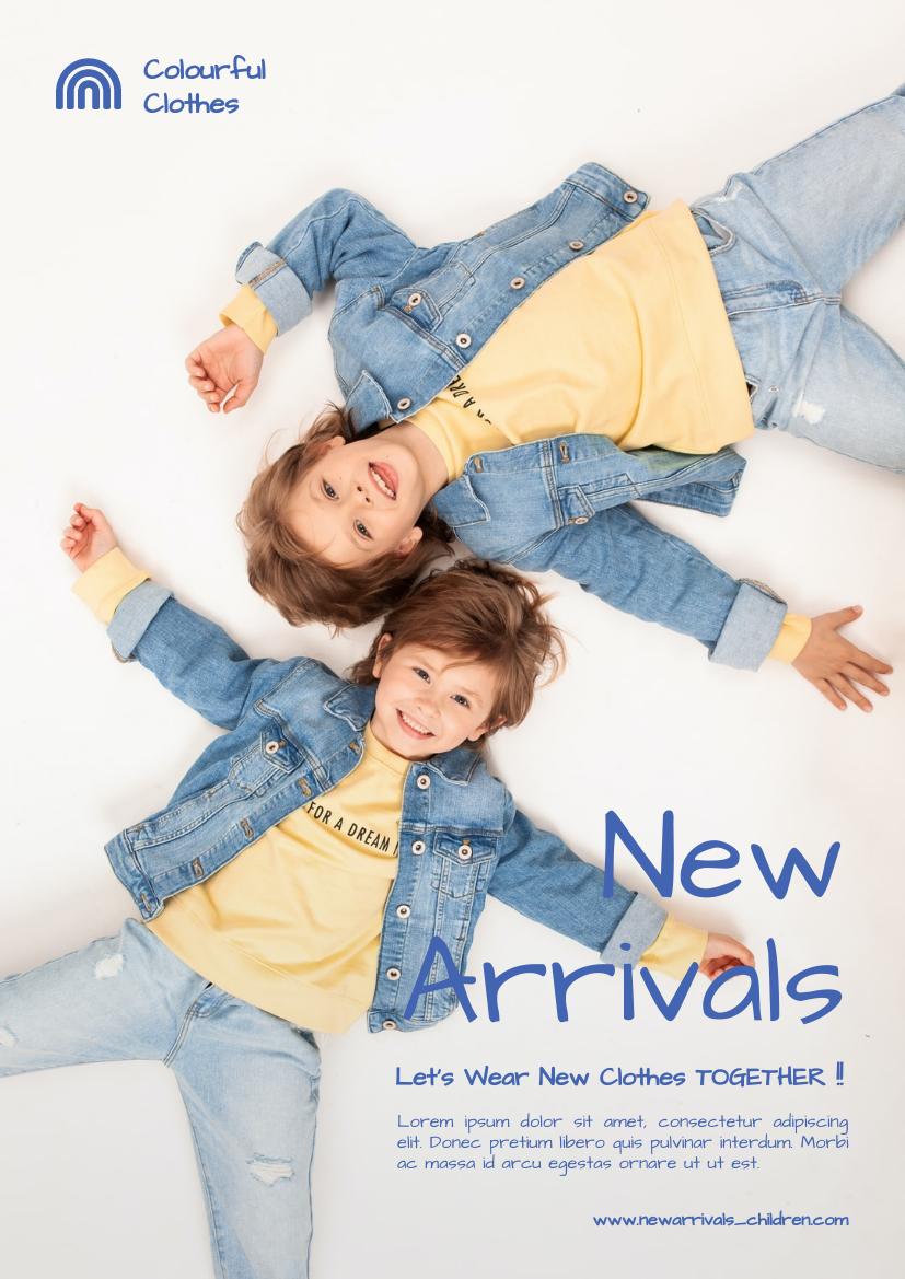 Flyer template: New Arrivals For Children Flyer (Created by InfoART's Flyer maker)
