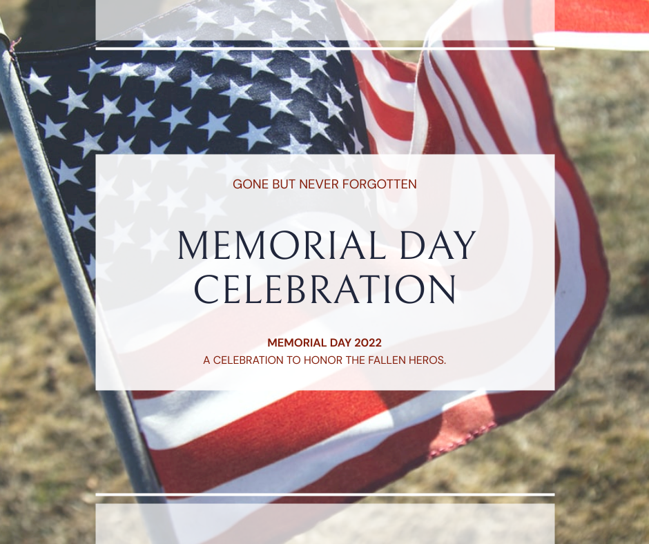 Facebook Post template: American Flag Photo Memorial Day Celebration Facebook Post (Created by InfoART's Facebook Post maker)