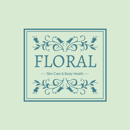 Logo template: Skin Care Logo Designed With Curves And Floral Elements (Created by InfoART's Logo maker)