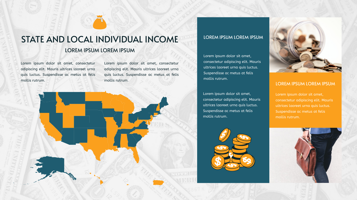 Geo Map template: State And Local Individual Income Geo Map (Created by Chart's Geo Map maker)