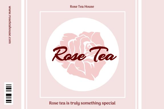 Label template: Rose Tea Label (Created by InfoART's Label maker)