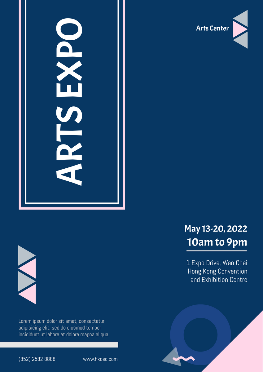 Poster template: Arts Expo Poster (Created by InfoART's Poster maker)