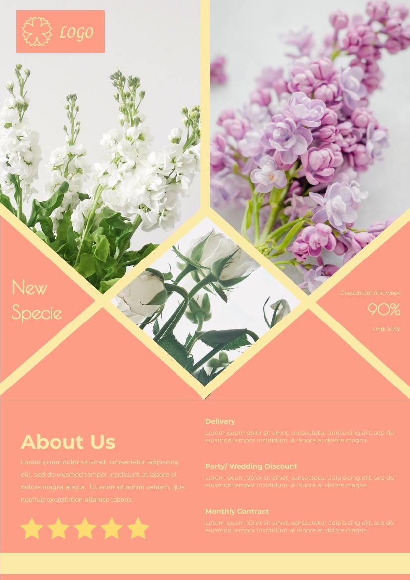 Flyer template: Flower Boutique Flyer (Created by InfoART's Flyer maker)
