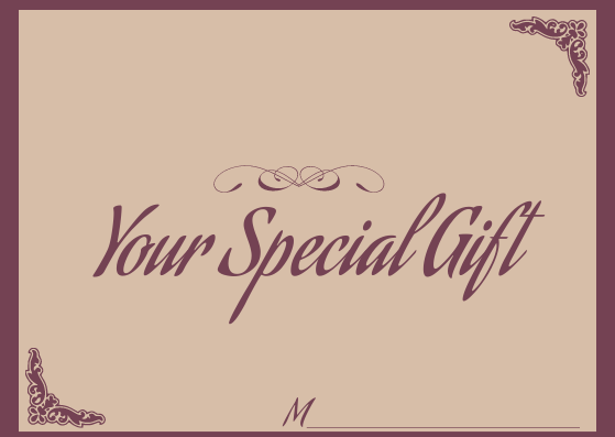 Gift Card template: Girly Gift Card (Created by InfoART's Gift Card marker)