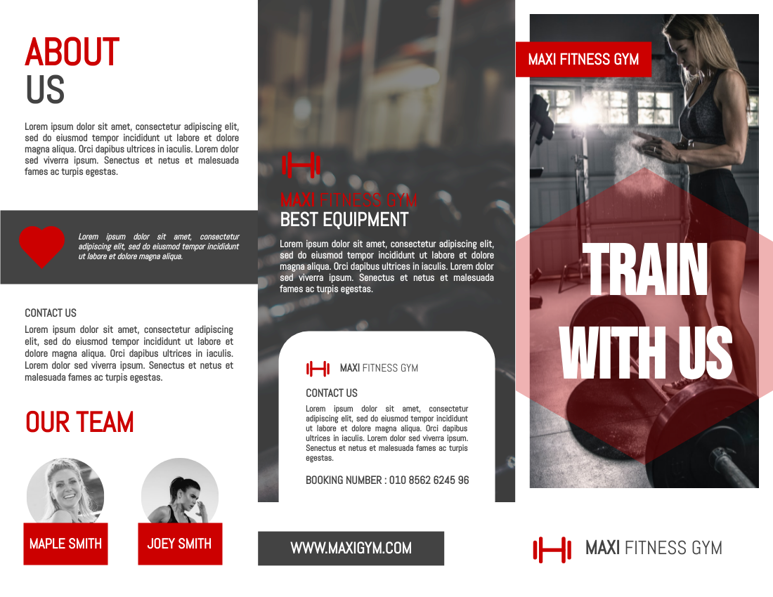 Brochure template: Fitness Gym Intro Brochure (Created by InfoART's Brochure maker)