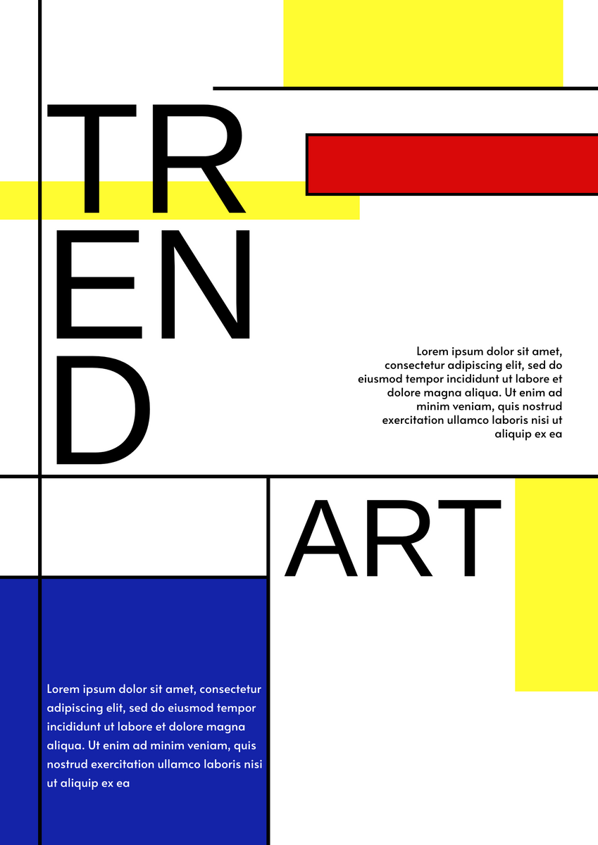 red yellow blue poster