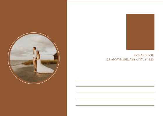 Postcard template: Orange Sunset Wedding Photo Invitation Postcard (Created by InfoART's Postcard maker)