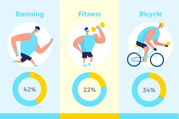Sport template: Sports Time (Created by InfoChart's Sport maker)