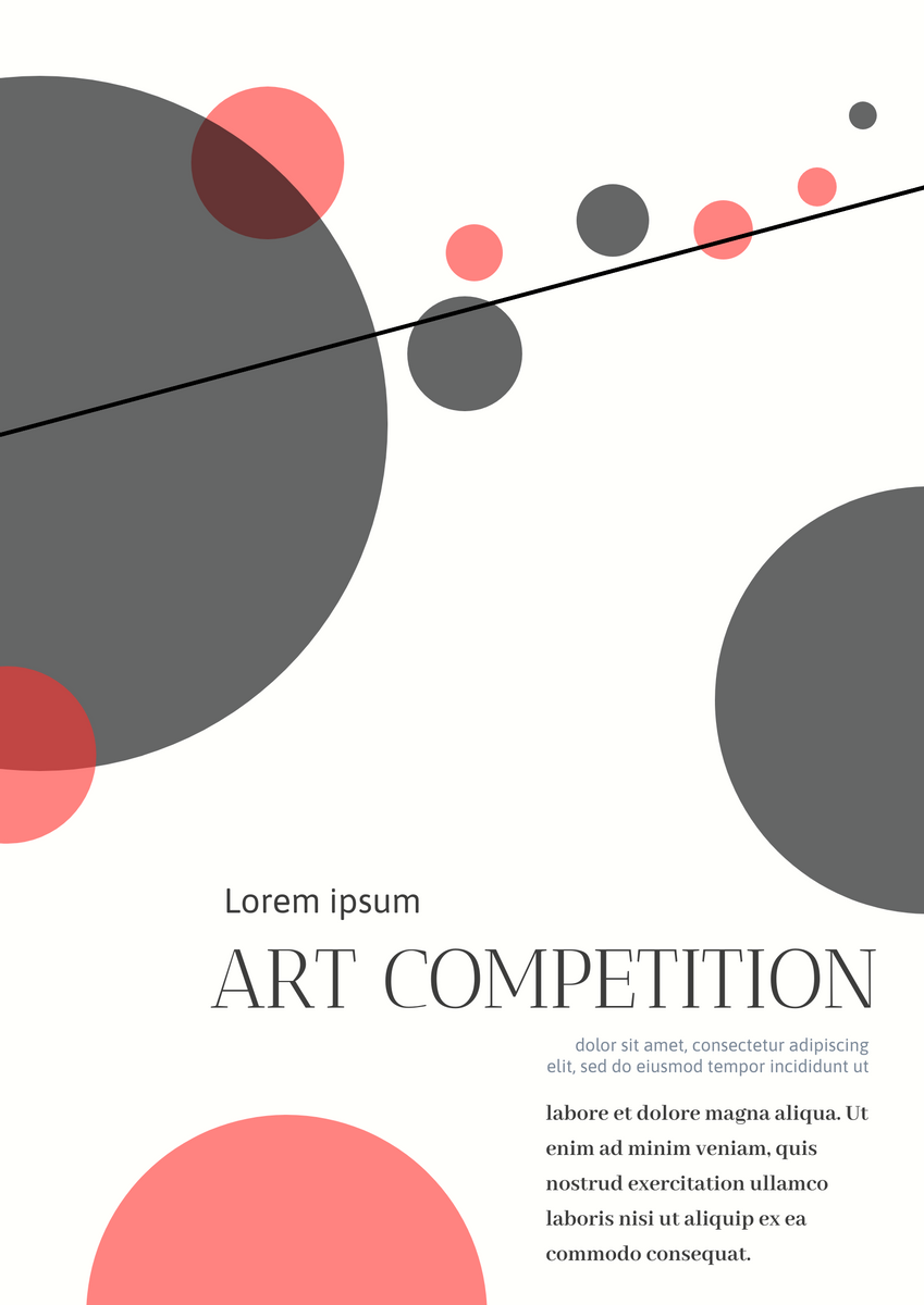 Poster template: Art Competition Poster (Created by InfoART's Poster maker)