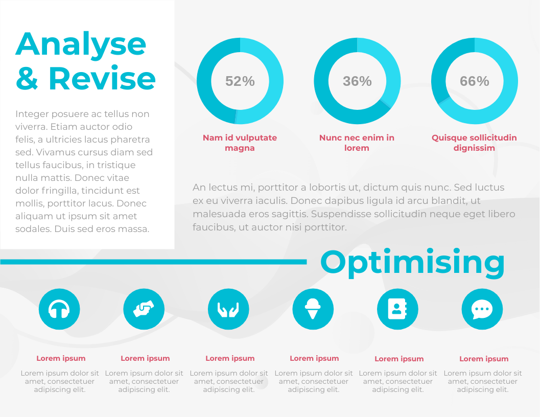 Infographic template: Analyse and review horizontal infographic (Created by InfoART's Infographic maker)