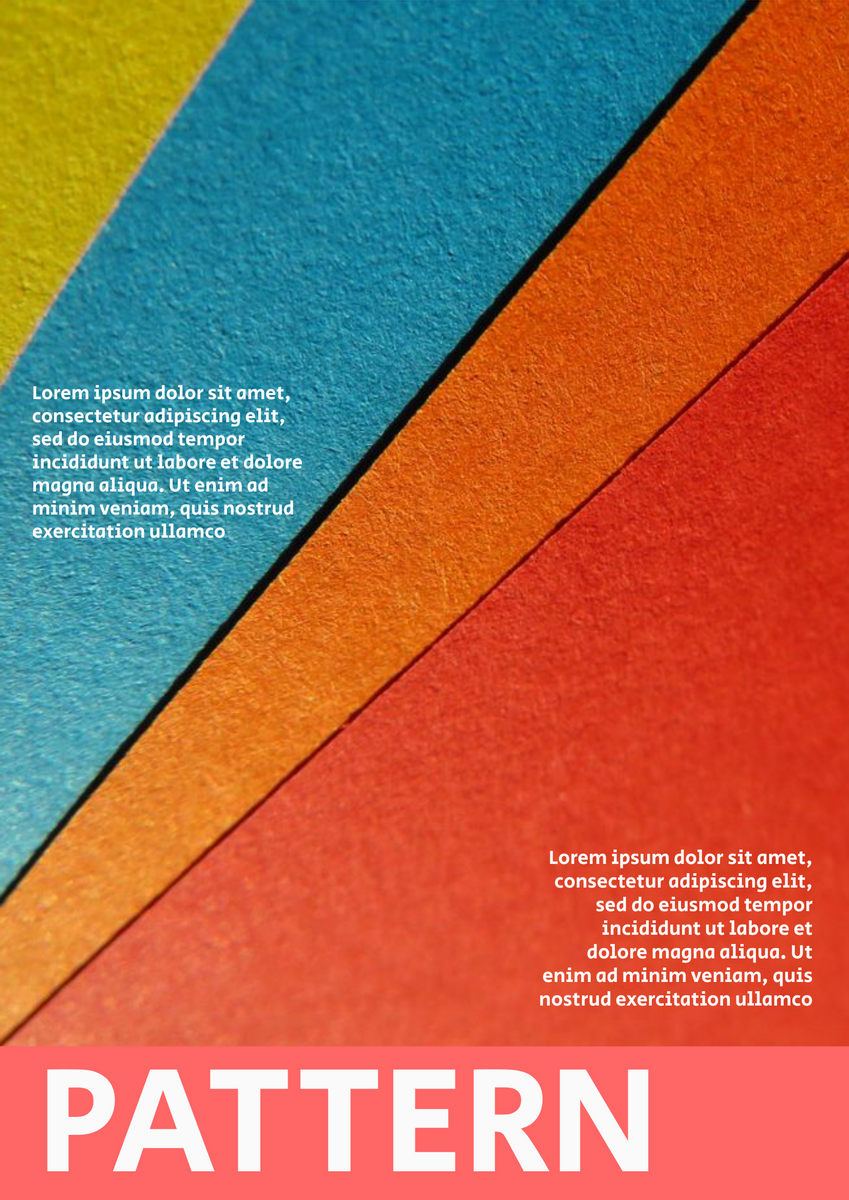 Poster template: Sharp Pattern Poster (Created by InfoART's Poster maker)