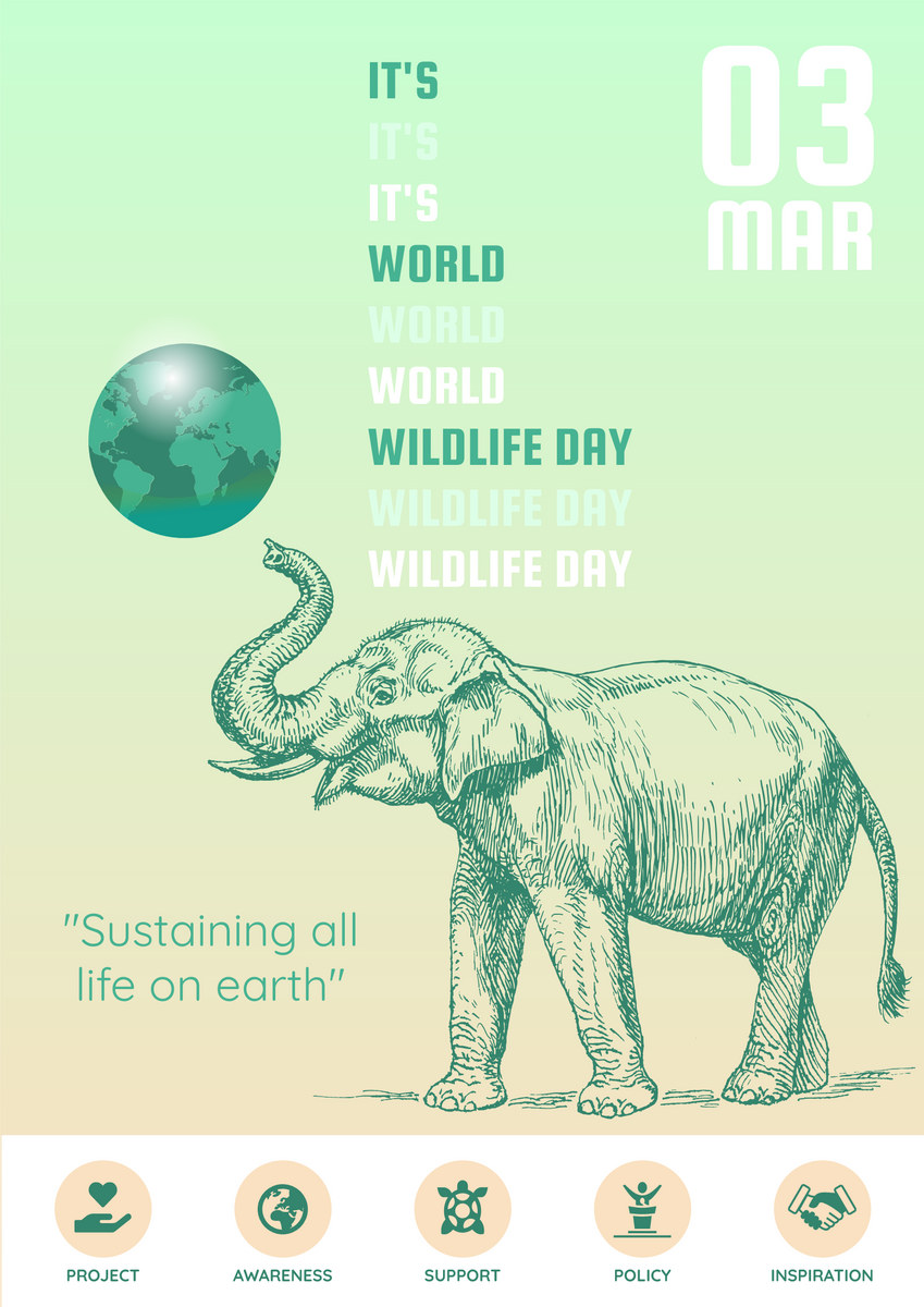 Poster template: Wildlife Day Promotional Poster (Created by InfoART's Poster maker)