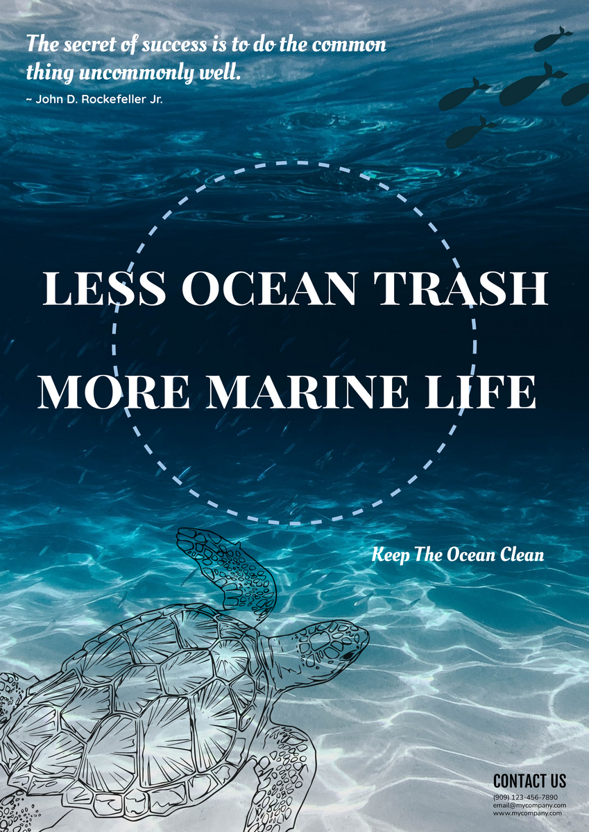 Poster template: Ocean Poster With Slogan (Created by InfoART's Poster maker)