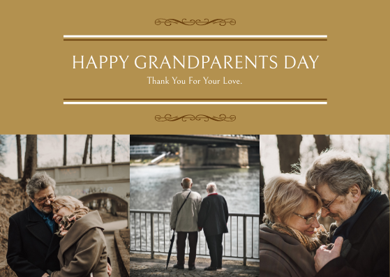 Postcard template: Happy Grandparents Day Photo Postcard (Created by InfoART's Postcard maker)