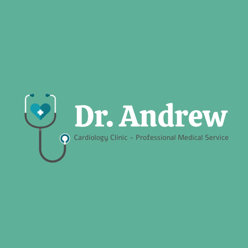Logo template: Cardiology clinic Logo Designed With Name Of The Doctor (Created by InfoART's Logo maker)