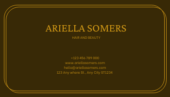 Business Card template: Gold And Grand Paper Texture Business Card (Created by InfoART's Business Card maker)