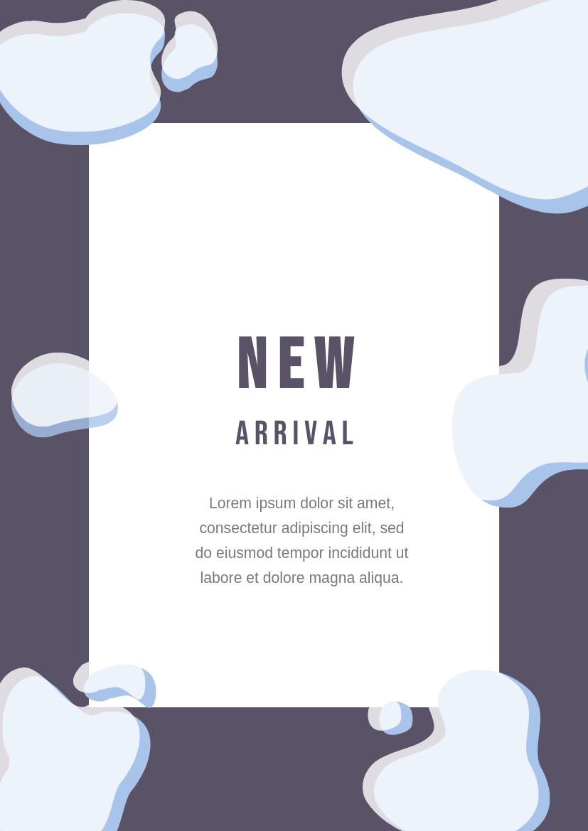 Flyer template: New Arrival Flyer 1 (Created by InfoART's Flyer maker)