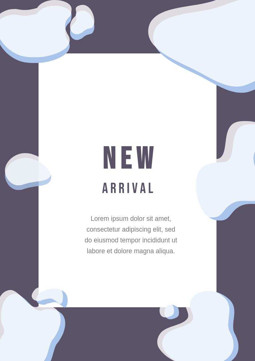 Flyer template: New Arrival Flyer With Details (Created by InfoART's Flyer maker)