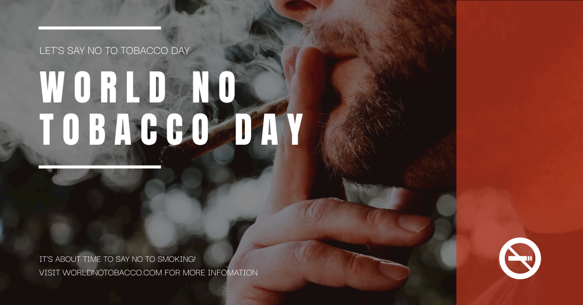Facebook Ad template: Red Smoking Photo World No Tobacco Day Facebook Ad  (Created by InfoART's Facebook Ad maker)