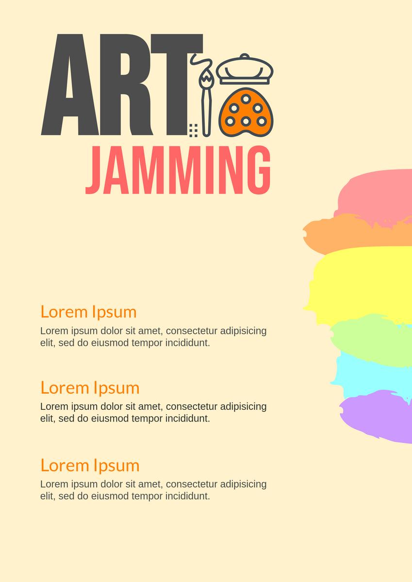 Poster template: Art Jam Poster (Created by InfoART's Poster marker)