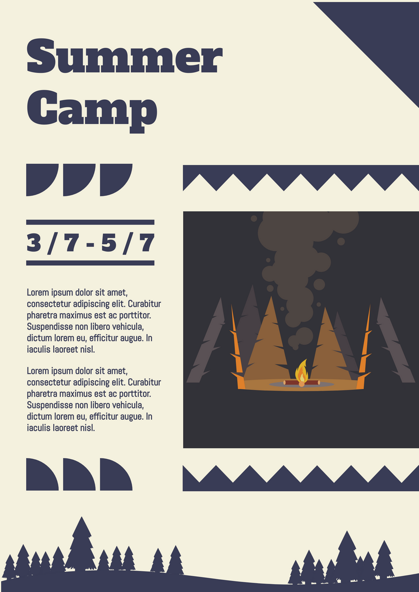 Poster template: Summer camp poster (Created by InfoART's Poster maker)