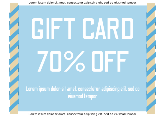 Gift Card template: Scroll Gift Card (Created by InfoART's Gift Card marker)
