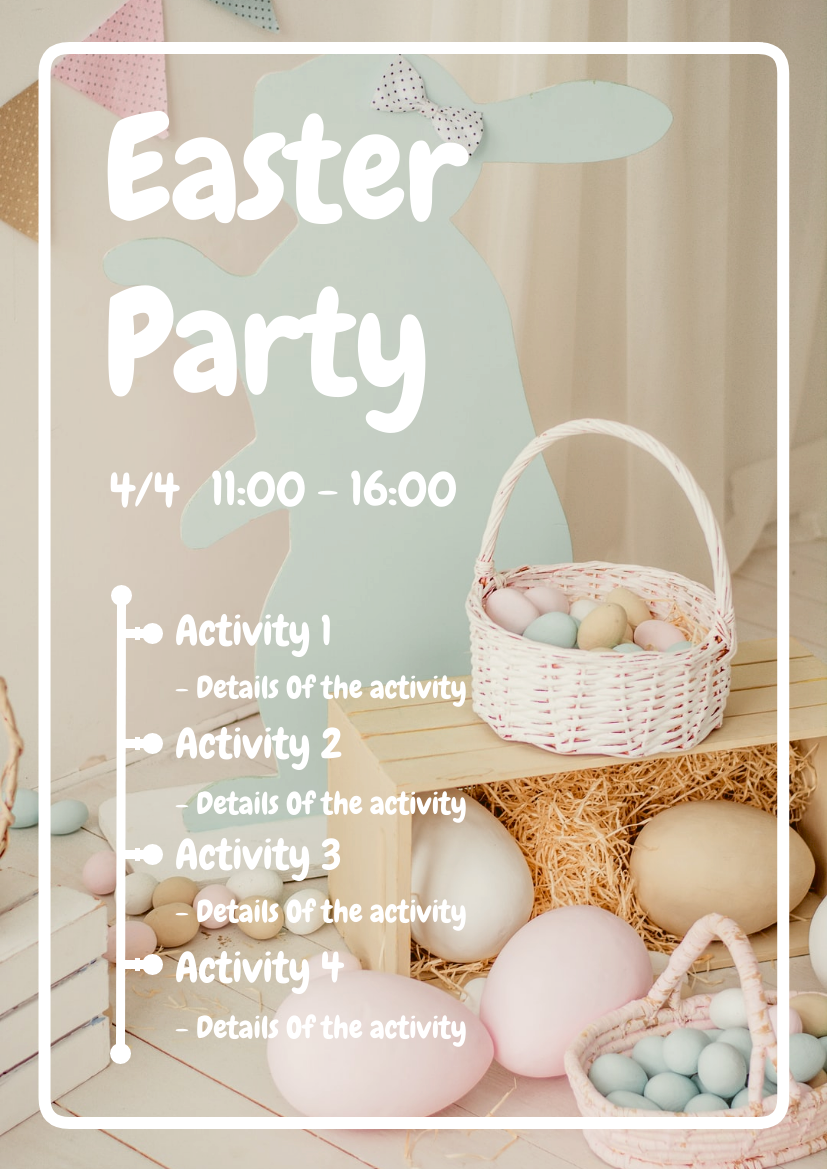 Flyer template: Easter Party Flyer In Light Colour Tone (Created by InfoART's Flyer maker)