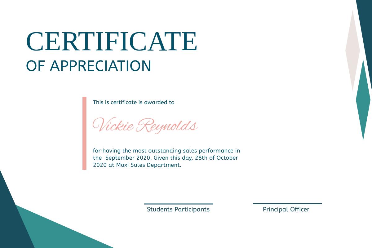 Nile Blue Certificate