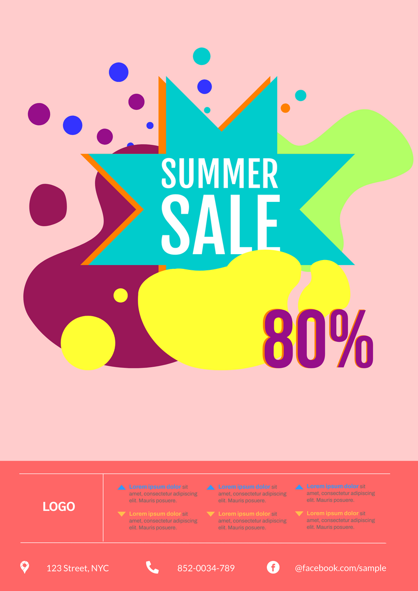 Poster template: Summer Sales Poster (Created by InfoART's Poster marker)