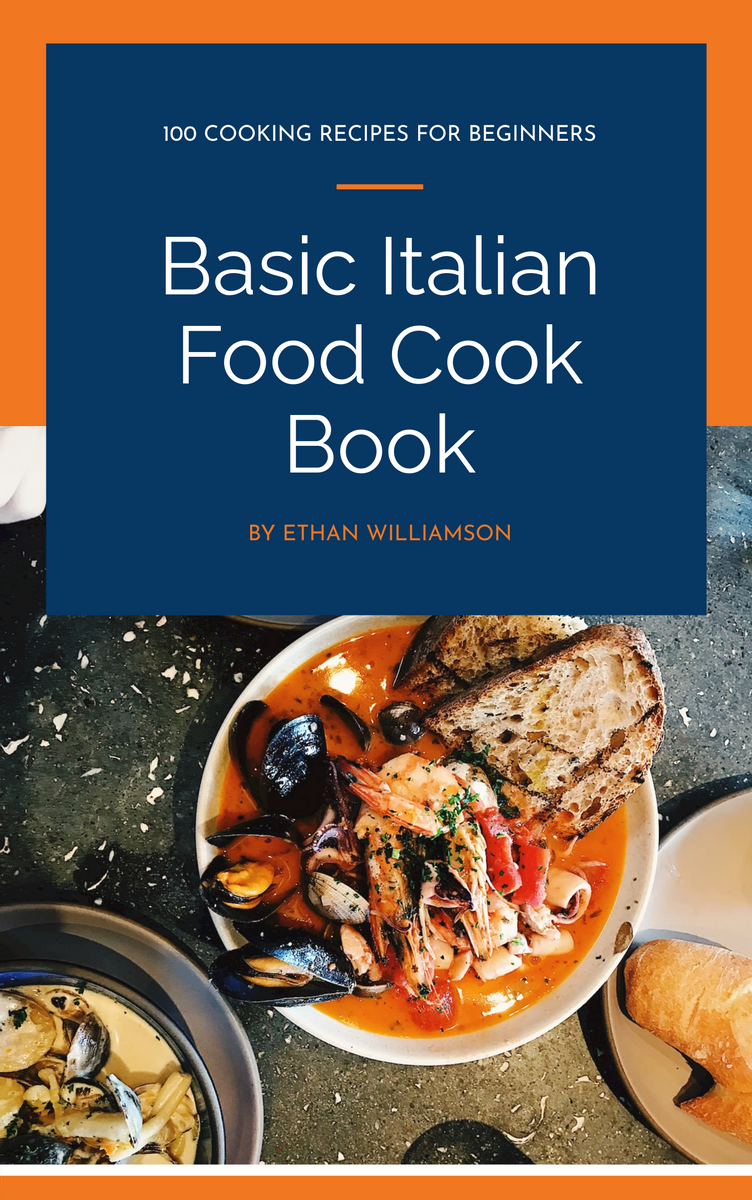 Book Cover template: Italian Food Cook Book Book Cover (Created by InfoART's Book Cover maker)