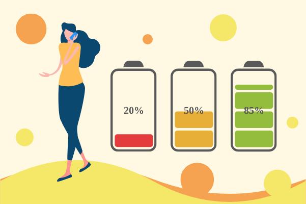 Progress template: Using Energy Of Phone (Created by InfoChart's Progress maker)