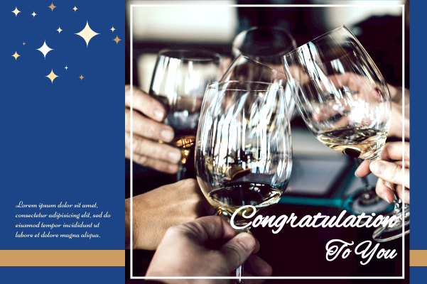 Greeting Card template: Congratulation-Cheers Greeting Card (Created by InfoART's Greeting Card maker)