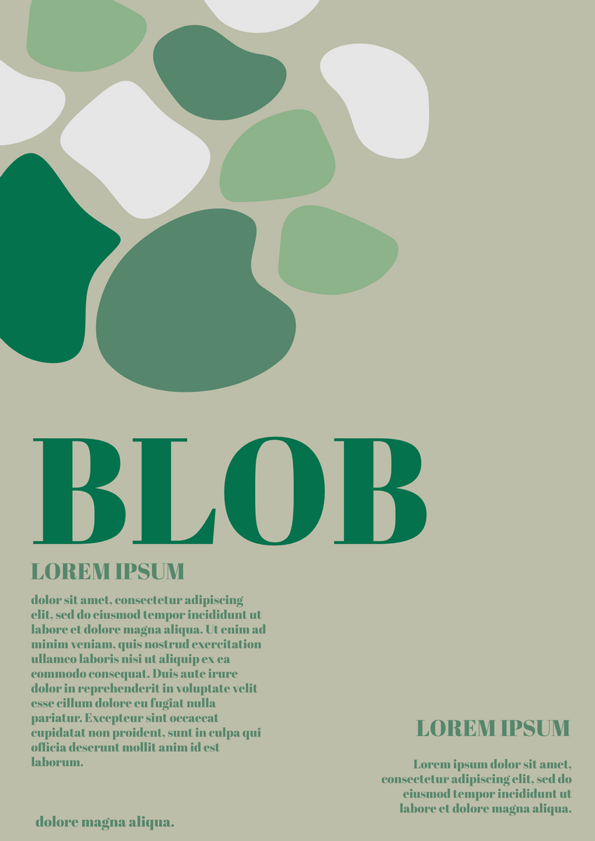 Poster template: Blob Poster (Created by InfoART's Poster marker)