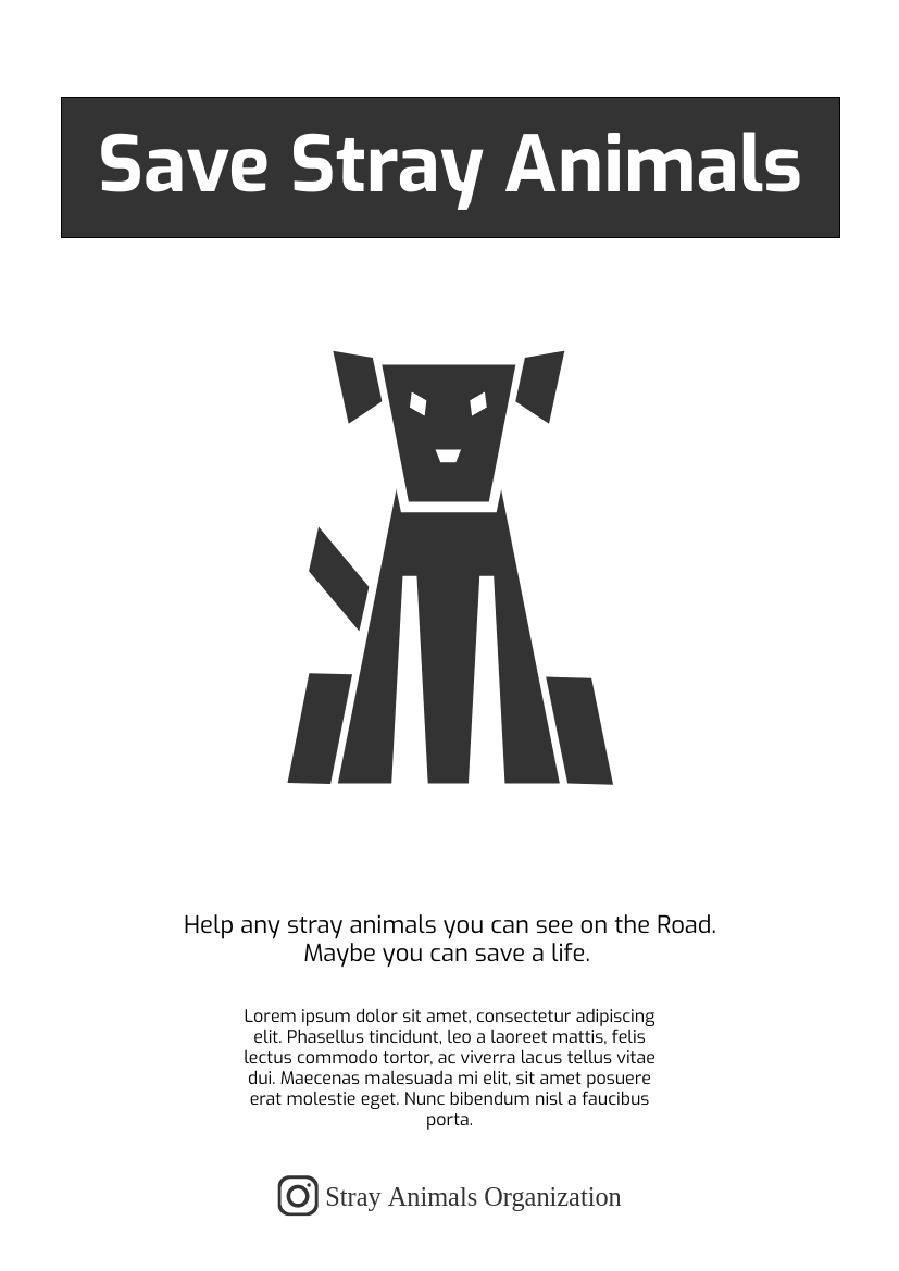 Flyer template: Save Stray Animals Flyer 2 (Created by InfoART's Flyer maker)