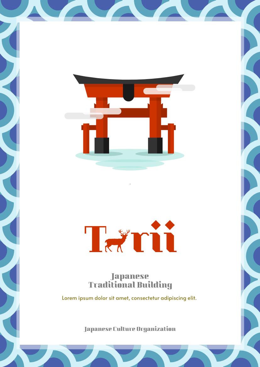 Flyer template: Torii Flyer (Created by InfoART's Flyer maker)