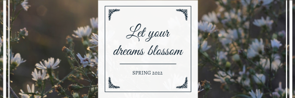 Email Header template: Elegant Floral Photo Blossom Spring Email Header (Created by InfoART's Email Header maker)